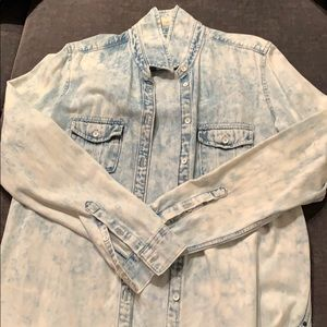 Acid Wash Denim Shirt